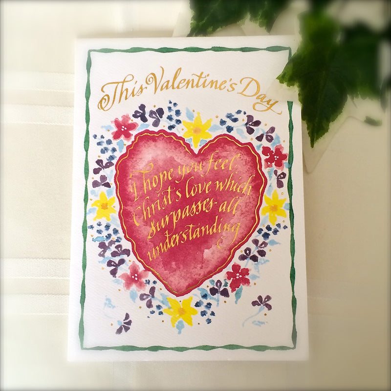 This Valentines Day Card Holly Monroe Calligraphy