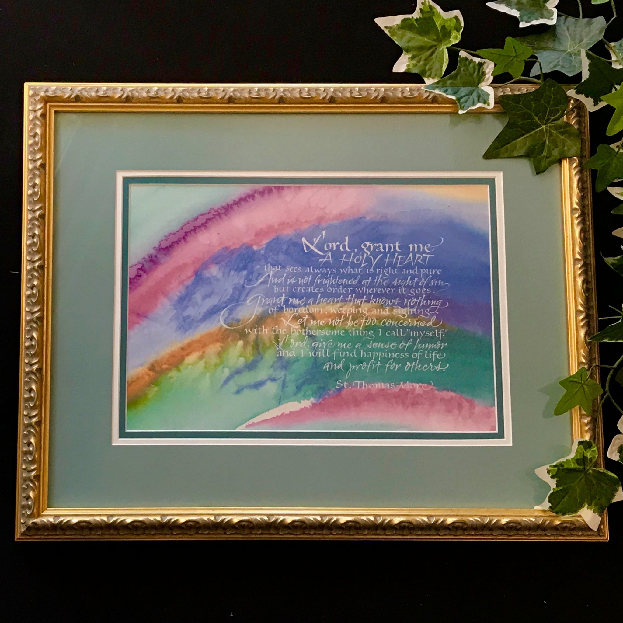 Prayer of Saint Thomas More Holly Monroe Calligraphy
