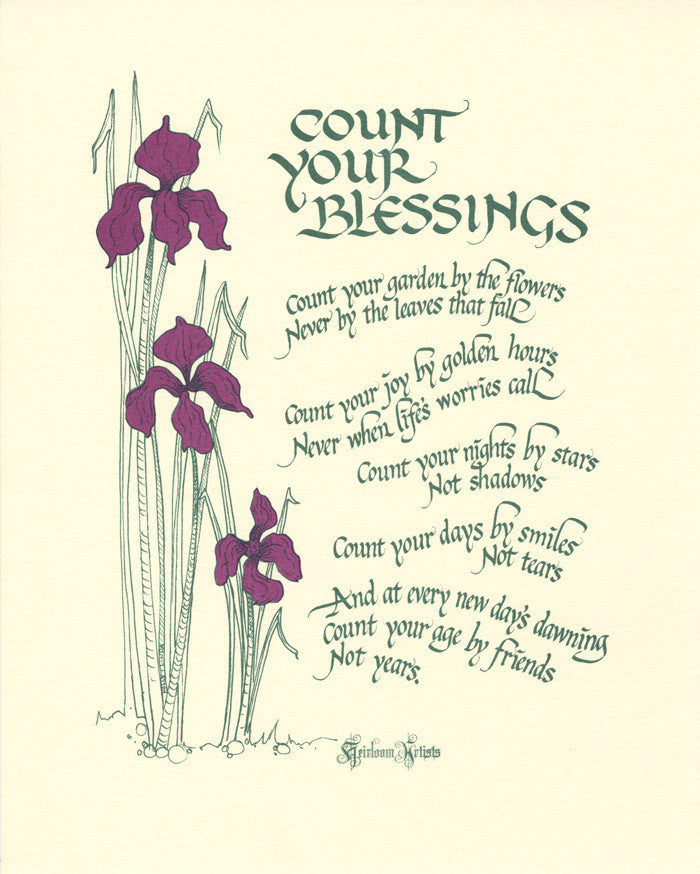 count your blessings heirloom artists holly monroe