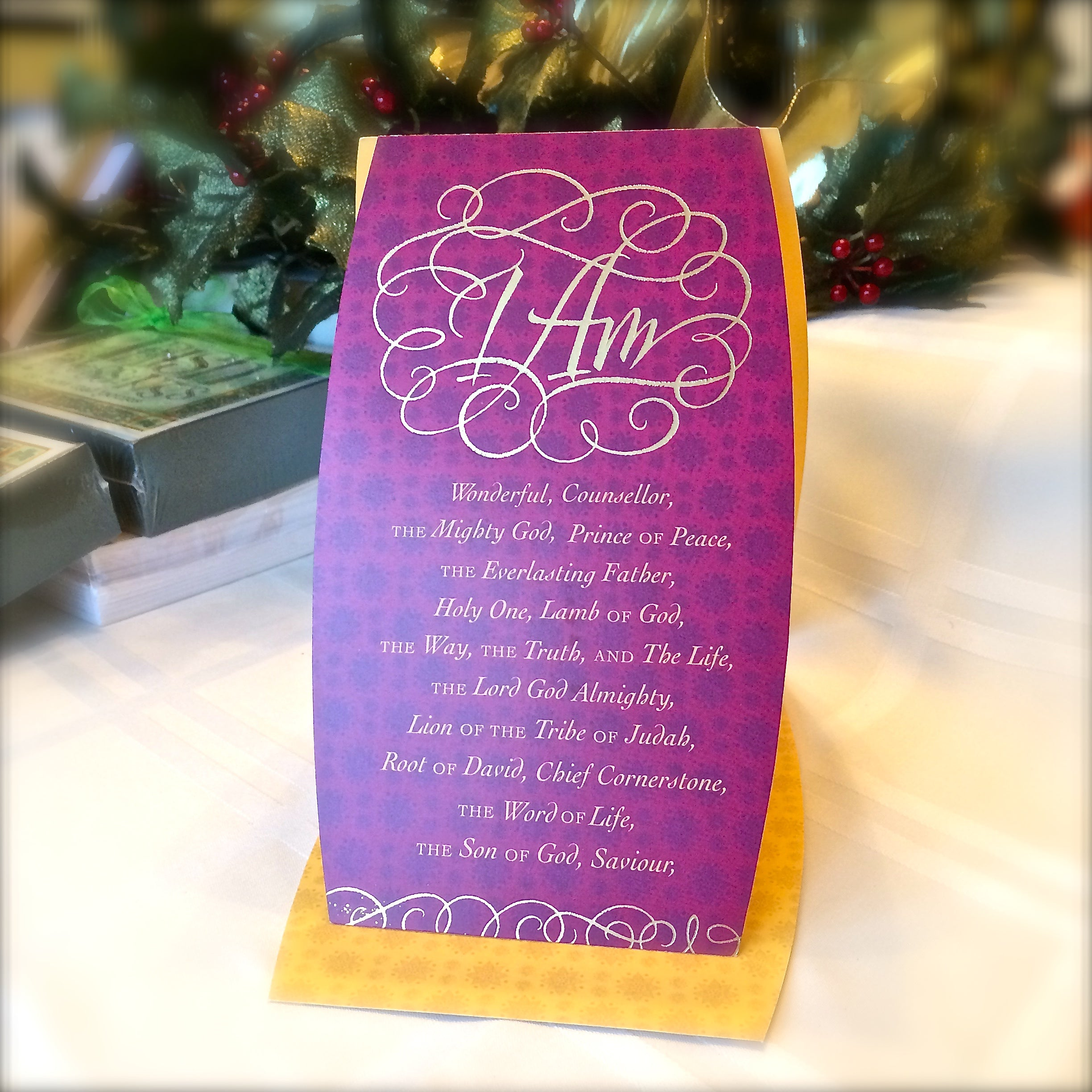 I Am Christmas Card | Holly Monroe Calligraphy – Heirloom Artists ...