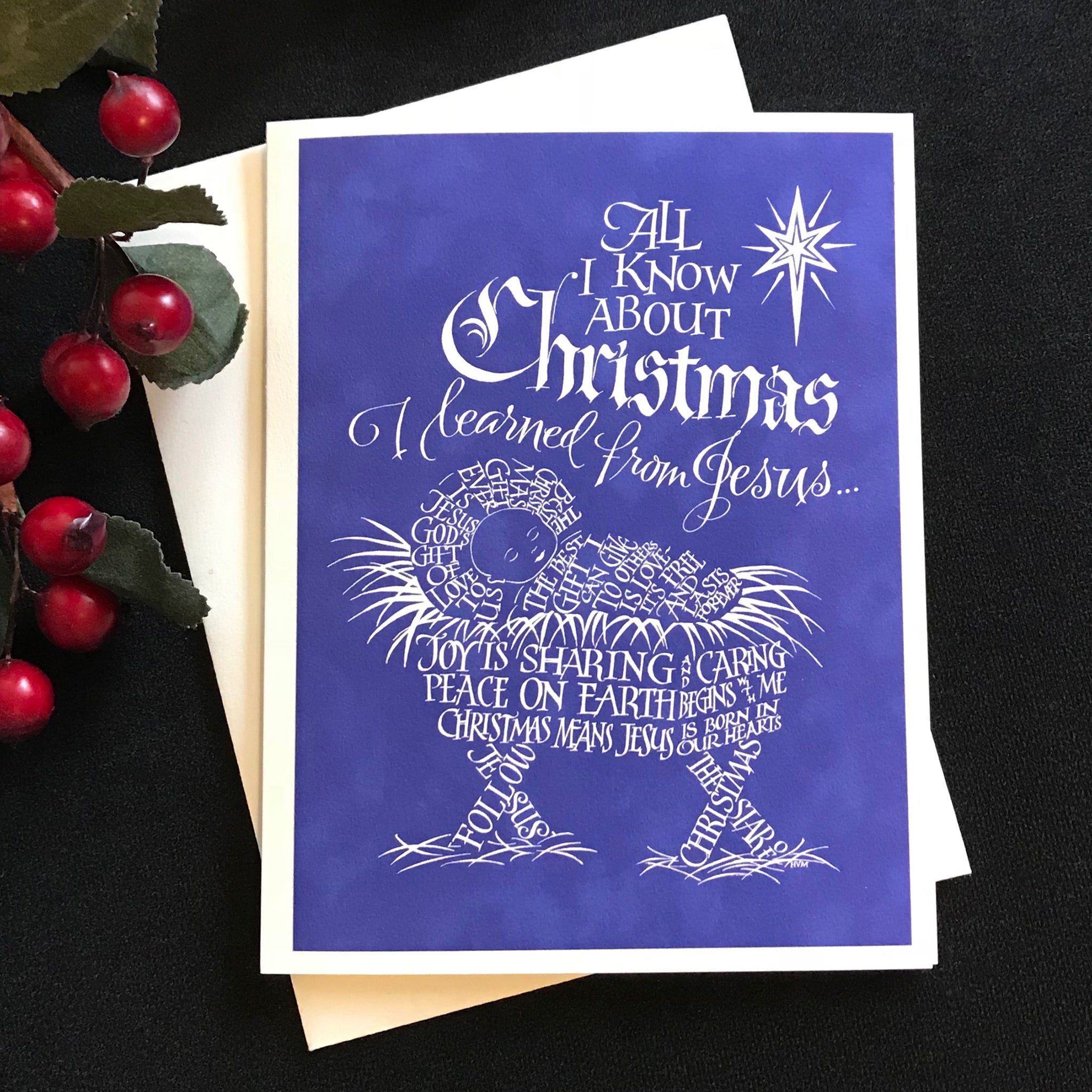 All I Know About Christmas - Calligrapher Holly Monroe