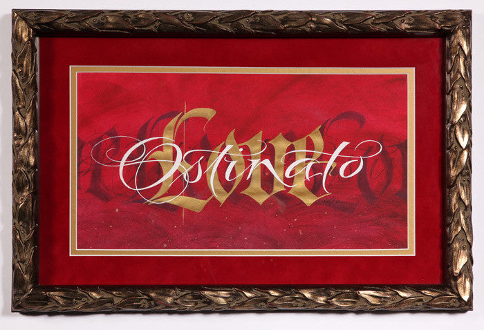 Holly Monroe Framed Calligraphy Print Ostinato Love