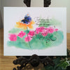 Holly Monroe calligraphy print Caterpillar becomes a butterfly