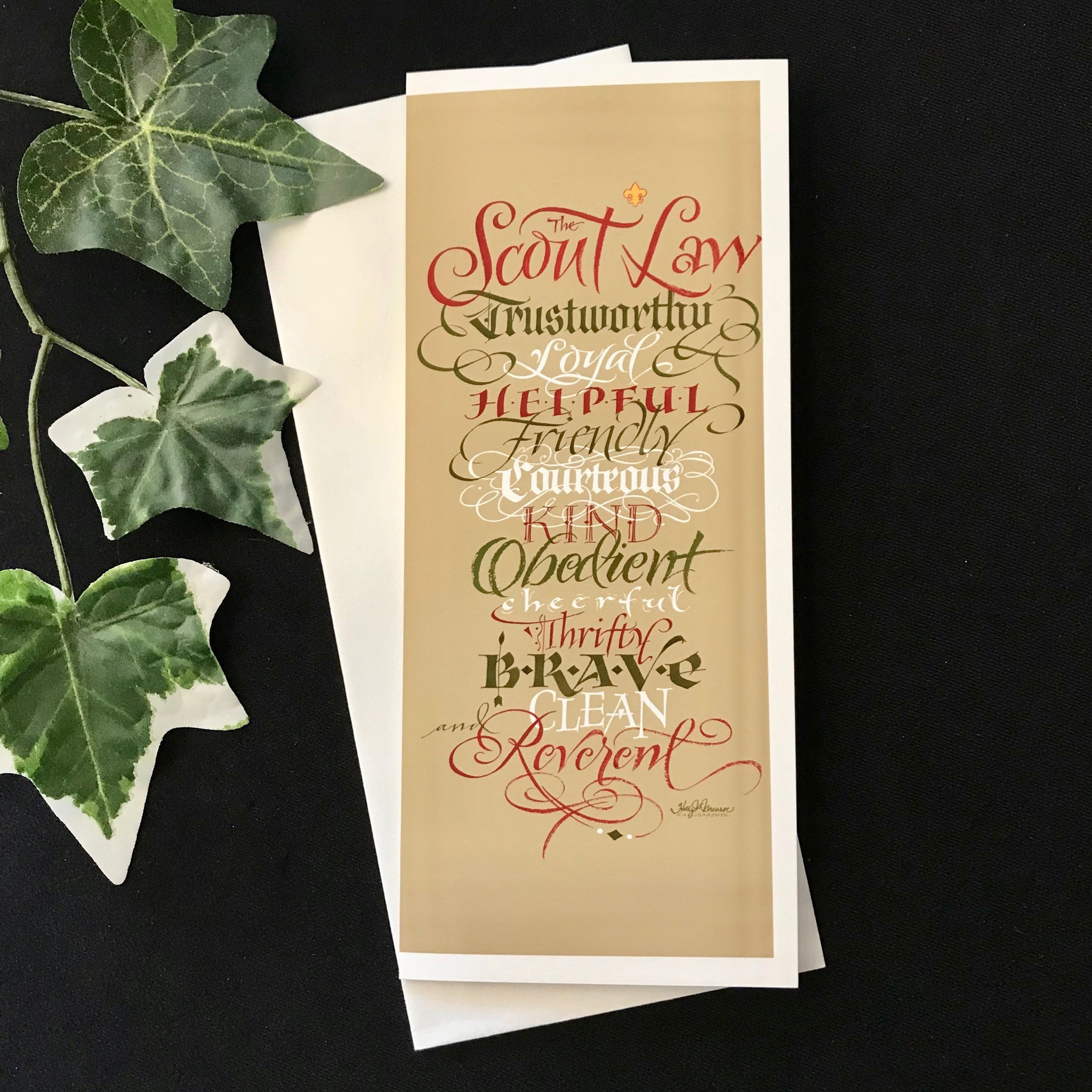 Scout Law | Calligraphy Holly Monroe