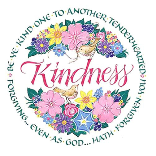 Holly Monroe Calligraphy Print Kindness Ephesians 4:32