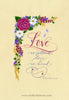 Love Is Patient Love Is Kind 1 Corinthians 13 Holly Monroe Calligraphy Print