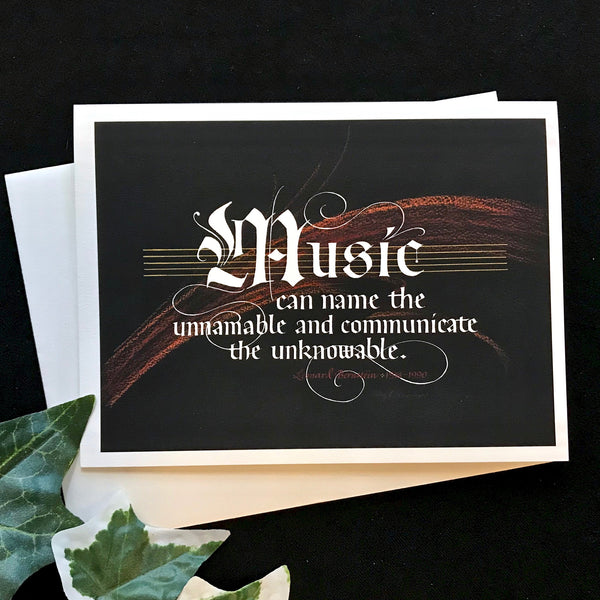 Leonard Bernstein Music quote Holly Monroe Framed artist card