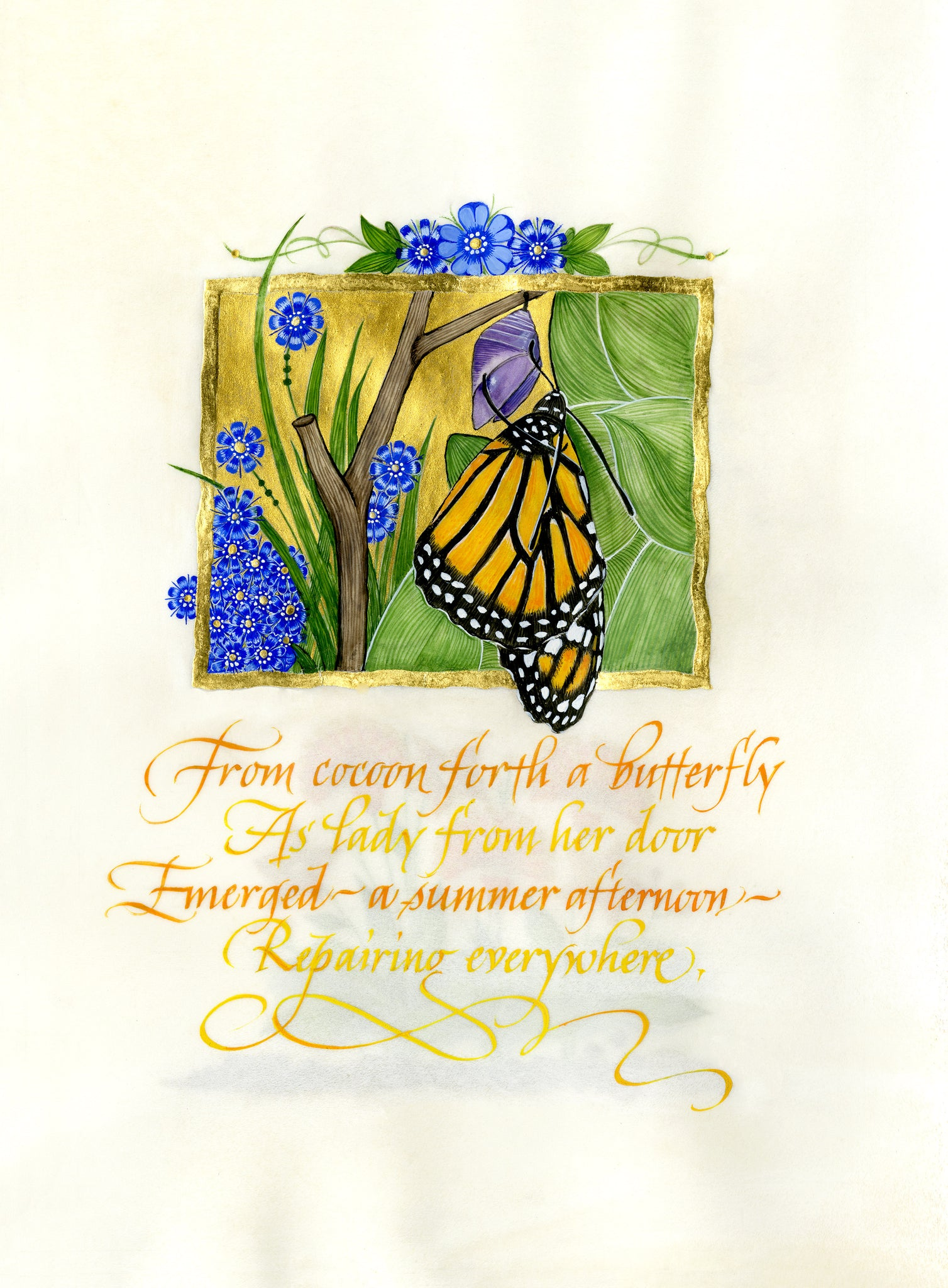 From Cocoon Forth - Holly Monroe Calligraphy Print