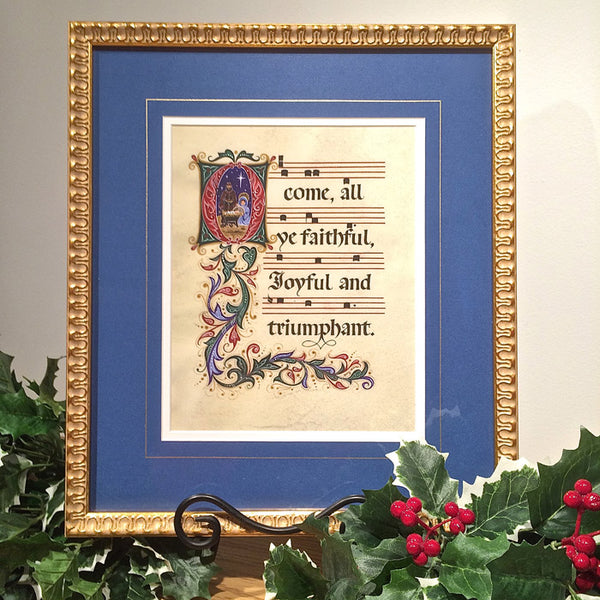 O Come All Ye Faithful Holly Monroe Calligraphy Holly