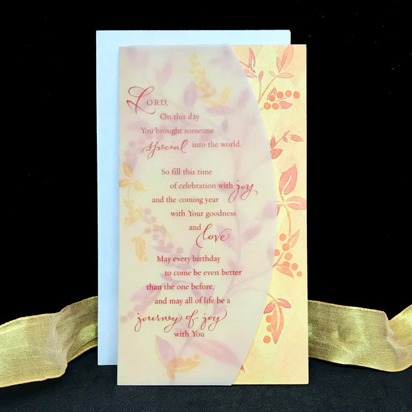Lord On this day birthday card with Holly Monroe calligraphy