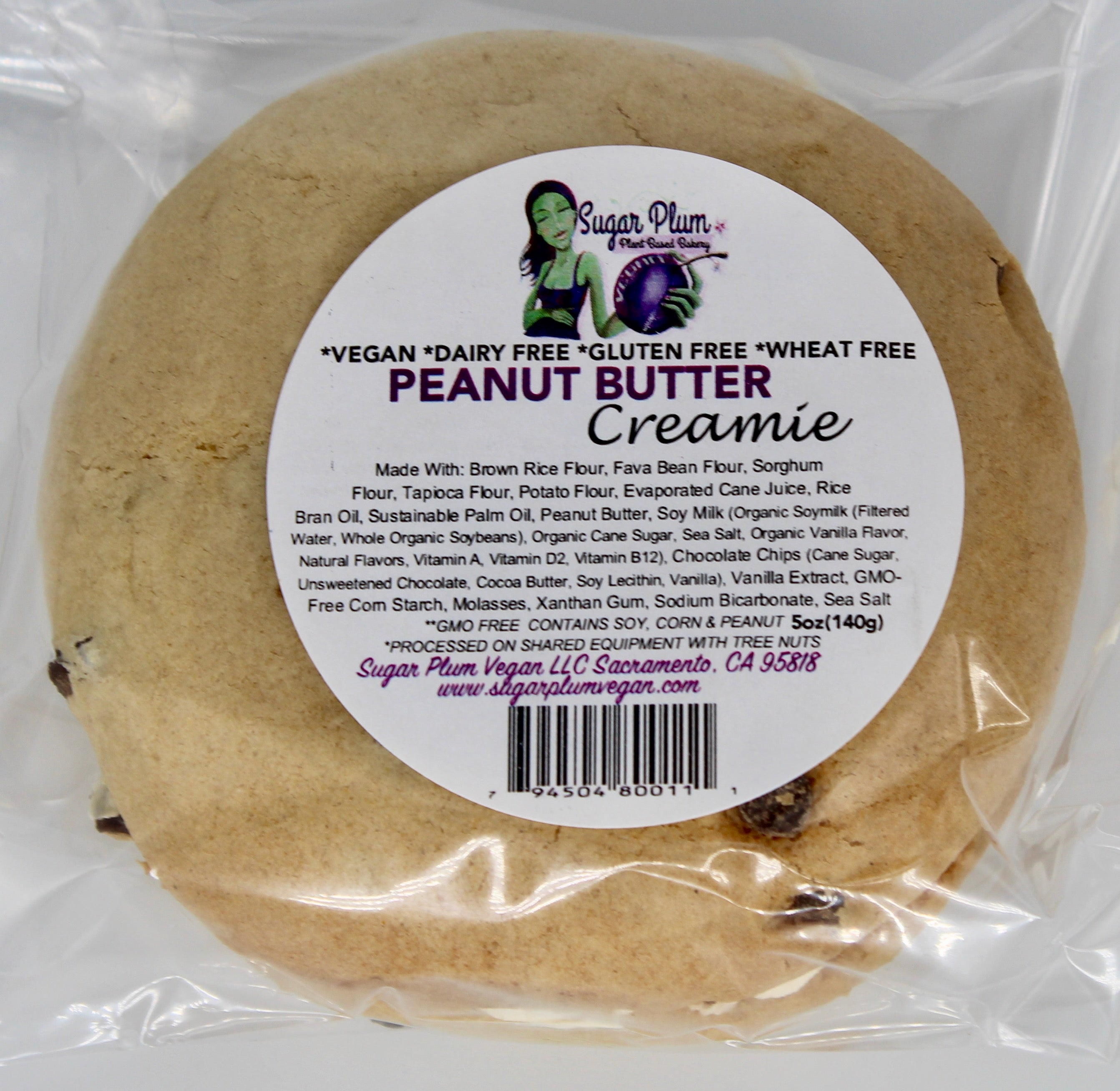 Peanut Butter Creamie-VARIOUS PACK OPTIONS-(Vegan, Gluten Free)