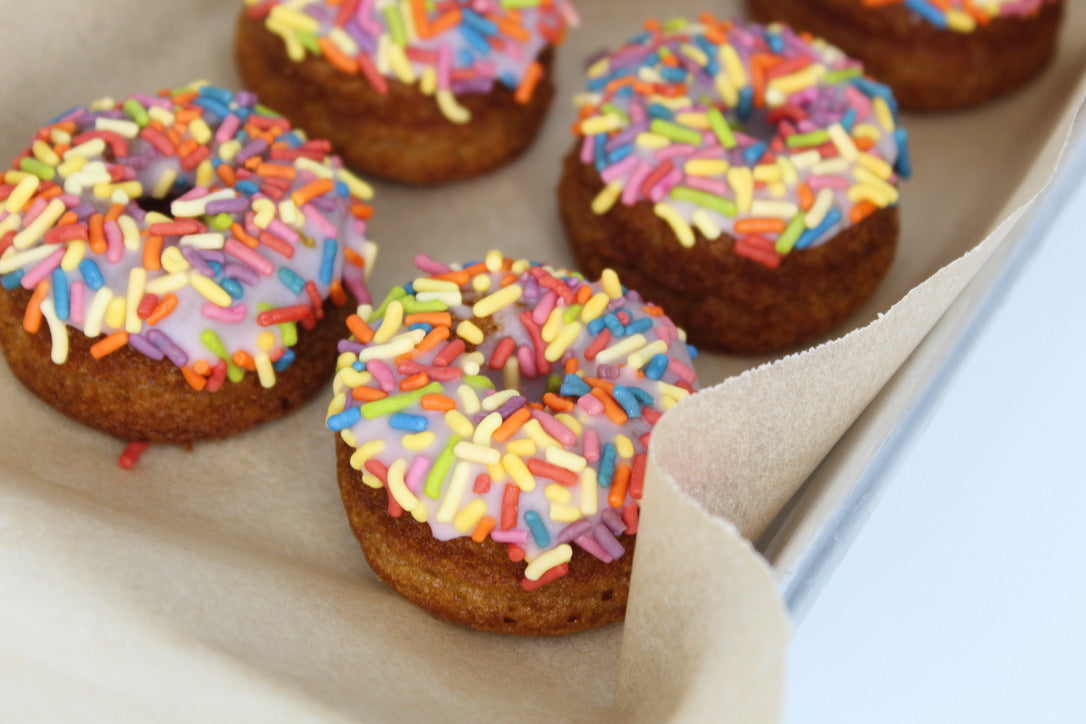 Mini Vanilla Sprinkle Cake Donuts-6 or 12 packs. LOCAL DELIVERY ONLY! NO SHIPPING