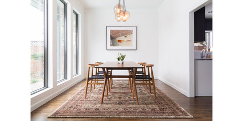 rugs 101 selecting rug sizes for every room rh rugandhome com Different Area Rugs for Kitchen and Dining Room Rug Under Dining Room Sets