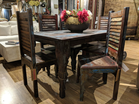 Table and Chairs made from Recycled Teak Wood