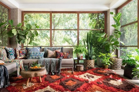 Plants are great for the Modern Boho Style