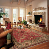 Ashara Agra 15002 Red Rug