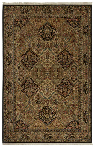 Original Karastan Empress Kirman 00724 Black Rug