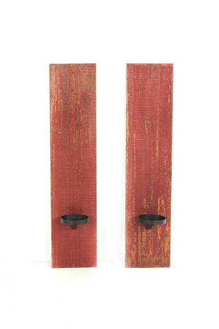 Santa Rosa 1210810 Antique Red Wall Sconce-Set of 2