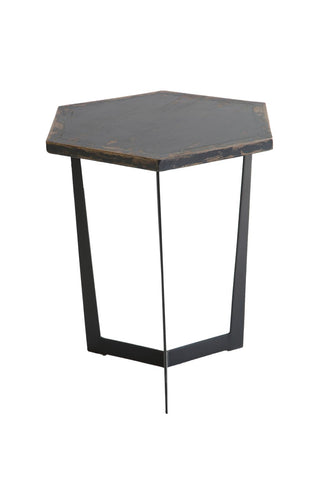Hex 1212372 Antique Black Accent Table
