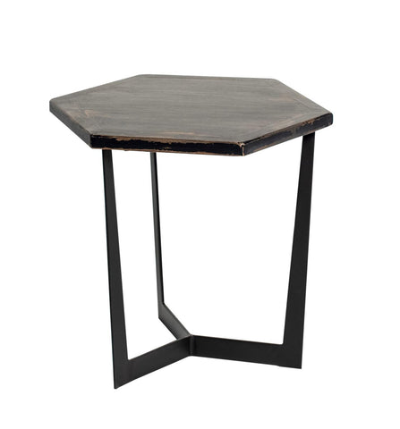 Hex 1212392 Antique Black Low Accent Table