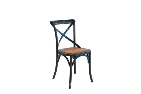 Xena 1610504 Antique Black/Antique Rattan Dining Chair