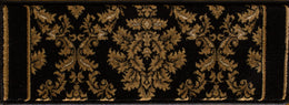 Radiance Mediterranean 023 2069BK Tapestry Black Rug Rectangle 7.83 x 10.83