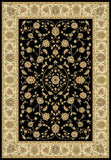 Radiance Mediterranean 023 2070BK Hanover Black Rug Rectangle 5.25 x 7.58