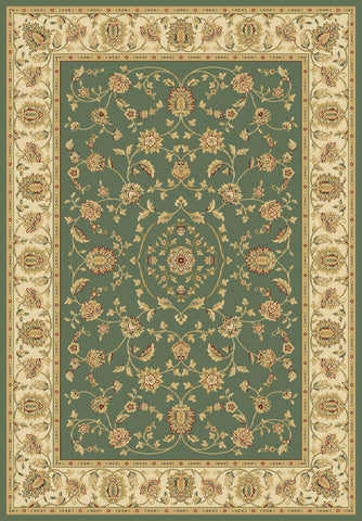 Radiance Mediterranean 023 2070GR Hanover Green Rug Rectangle 5.25 x 7.58