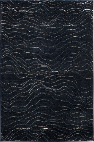 Century 2604IA Vorhees Indigo/Pewter Rug Rectangle 5 x 7.25
