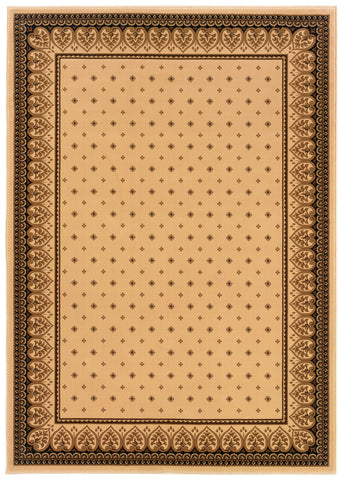 Dimensions Mediterranean 023 4338.14 Lily Ivory Rug Rectangle 5.25 x 7.58
