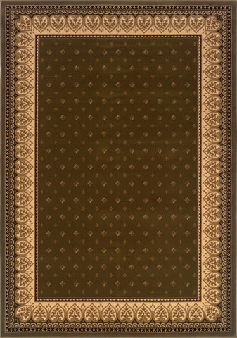 Dimensions Mediterranean 023 4338.31 Lily Green Rug Rectangle 5.25 x 7.58