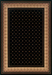 Dimensions Mediterranean 023 4338.81 Lily Black Rug Rectangle 5.25 x 7.58