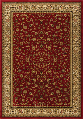 Dimensions Mediterranean 023 4341.21 American Sarouk Red Rug Rectangle 5.25 x 7.58