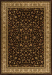 Dimensions Mediterranean 023 4341.51 American Sarouk Brown Rug Rectangle 5.25 x 7.58