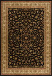 Dimensions Mediterranean 023 4341.81 American Sarouk Black Rug Rectangle 5.25 x 7.58