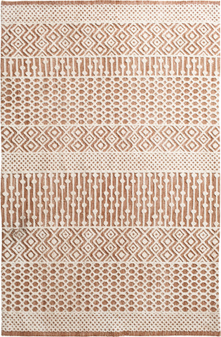 Posh 7059.132 Paxley Peach/Ivory Rug Rectangle 5 x 8
