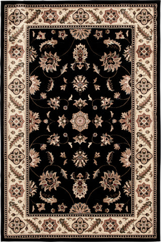 Interlude Portico 030 8265BK Kazmir Black Rug Rectangle 5 x 7.58