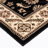 Interlude Portico 030 8265BK Kazmir Black Rug
