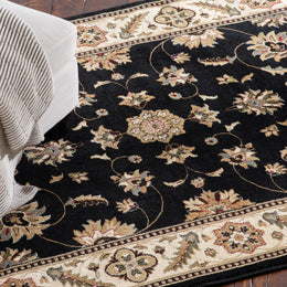 Interlude Portico 030 8265BK Kazmir Black Rug Rectangle 7.25 x 10.83