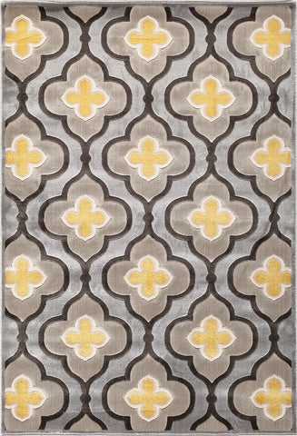 Paris Citron 061 9006SI Livingston Silver Rug Rectangle 5 x 7.5