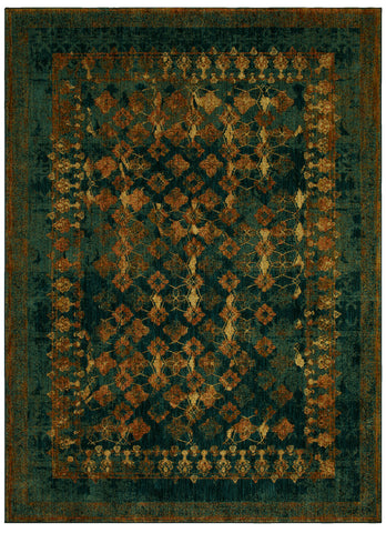 Spice Market Faded Arabesque by Patina Vie Sapphire 91636 50130 Rug