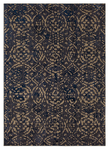 Cosmopolitan Block Print by Patina Vie Ink Blue 91639 50139 Rug