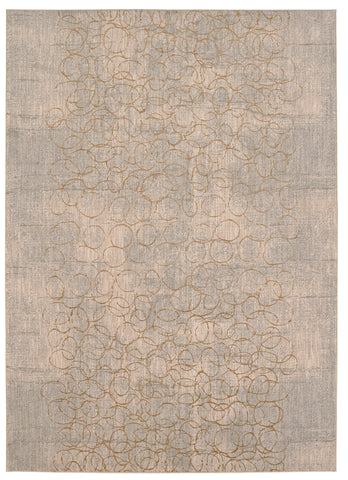 Cosmopolitan Azure by Virginia Langley Brushed Gold 91944 00527 Rug