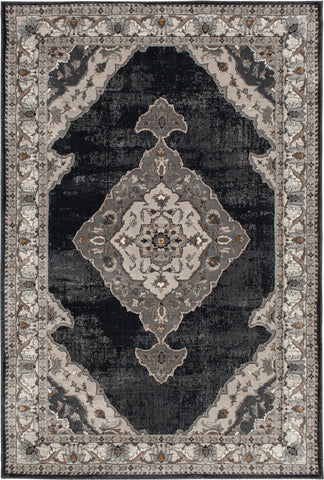 Adore 9267DBW Saybrook Dark Blue/White Cap Rug Rectangle 5 x 7.5