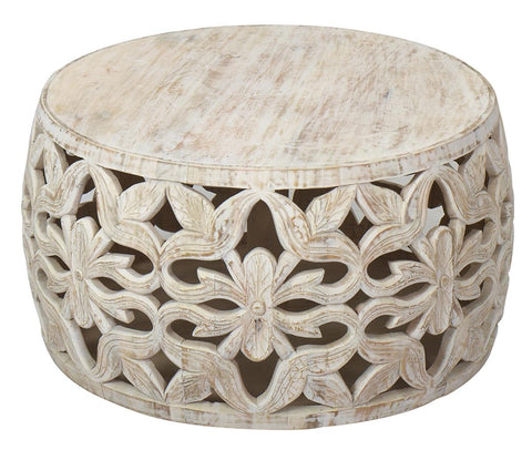 Artisanal Alchemy ARA-9511 Washed White Rimsa Coffee Table