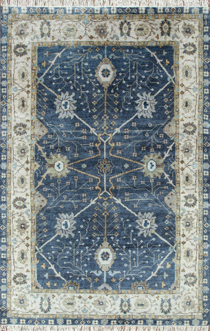 Ankar 2105 Indigo Blue-Dark Ivory Made To Order Rug
