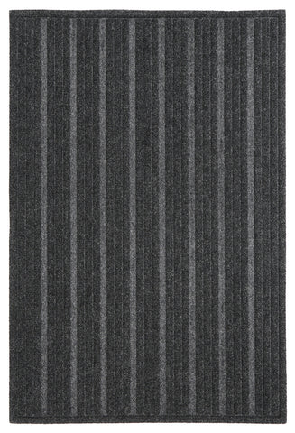 Impressions B1008 11184 Ribbed Charcoal Rug