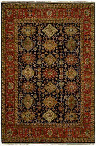 DREAM BC 0013 BLACK/RUST Made to Order Rug