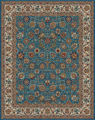 Dream BC 0022 MED BLUE/IVORY Custom Rug