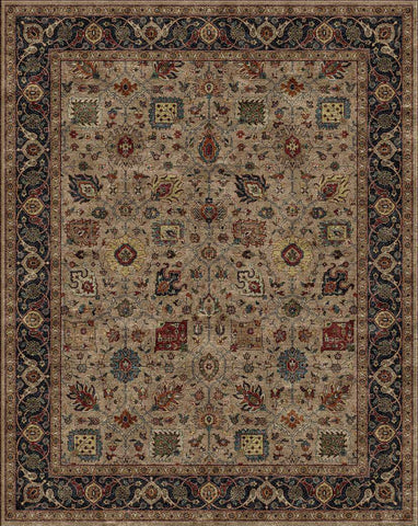DREAM BC 0026 CAMEL/BLACK Custom Rug